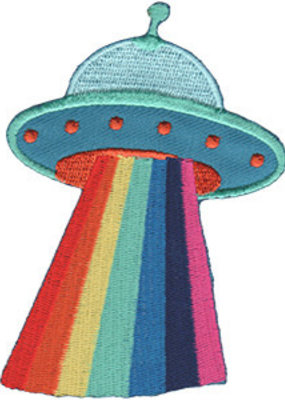C & D Visionary Patch UFO Rainbow