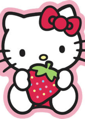 C & D Visionary Sticker Hello Kitty Strawberry
