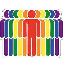 C & D Visionary Sticker Rainbow People