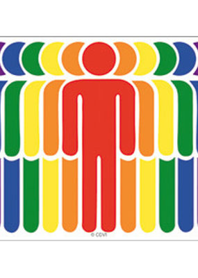C & D Visionary Sticker Rainbow People
