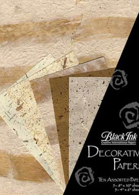 Black Ink Decorative Papers Decorative Papers Banana Leaf