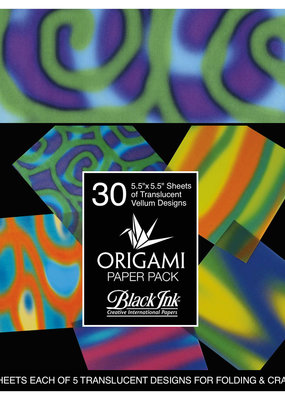 Black Ink Decorative Papers Decorative Origami Papers Funky Vellum