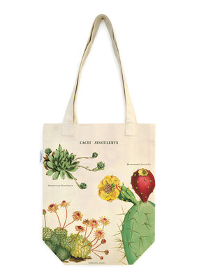 Cavallini Papers & Co. Tote Bag Cacti & Succulents