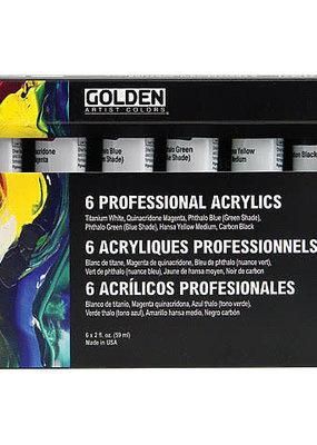 Golden Golden Heavy Body Set Principal Colors 6 Tubes 2 Ounce