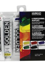 Golden Golden Heavy Body Acrylic Introductory 6 Piece Set