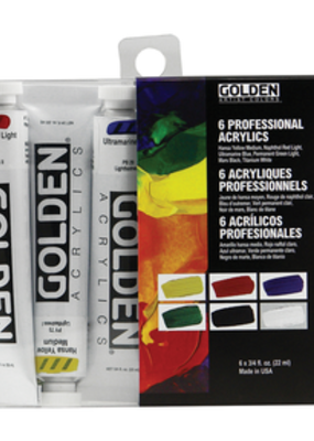 Golden Golden Heavy Body Acrylic Introductory 6 Piece Set