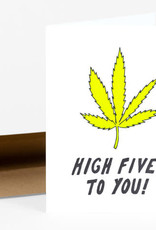 Power and Light Press Card Weed High Five