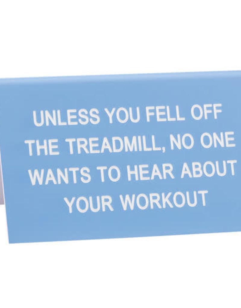 Sign Treadmill