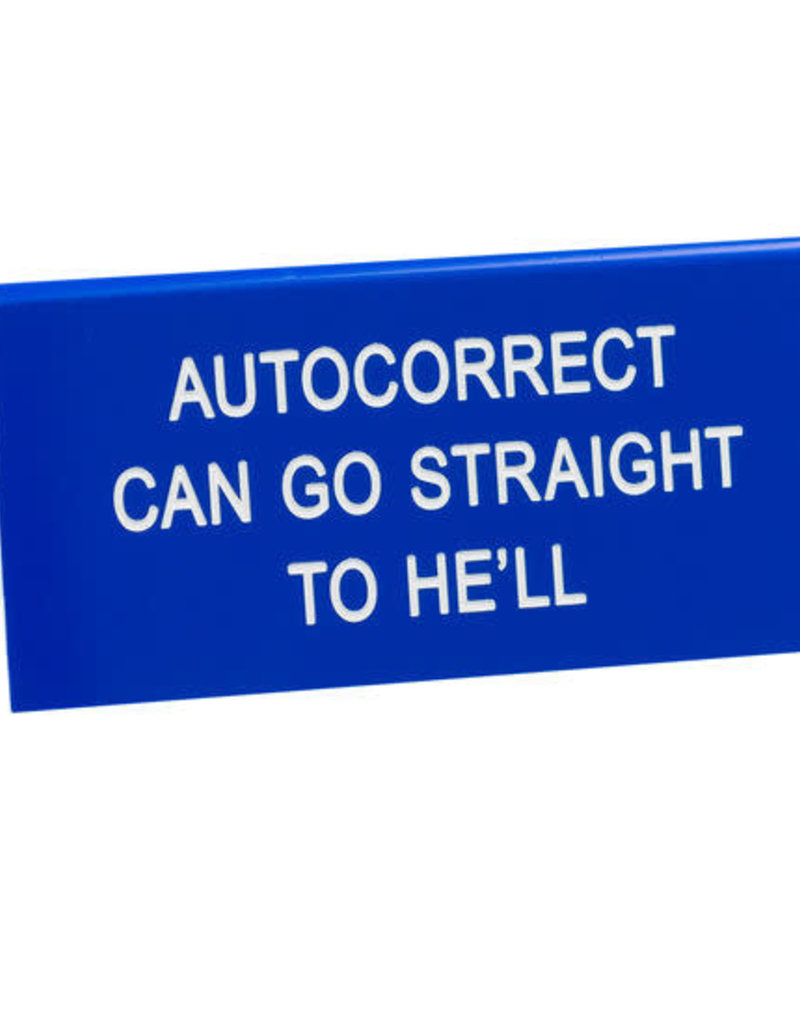 About Face Sign Autocorrect
