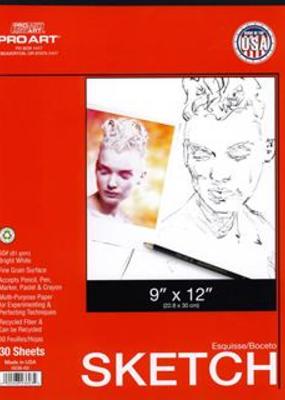 Pro Art Sketch Paper Pad 9 x 12