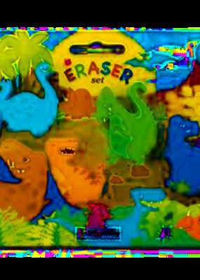 The Piggy Story Eraser Set Dinosaur World 4 piece