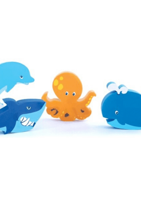 The Piggy Story Eraser Set Under the Sea 4 piece