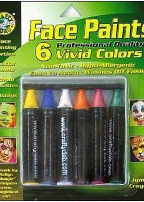 Crafty Dab Crafty Dab Face Paint Jumbo Crayon Set Vivid