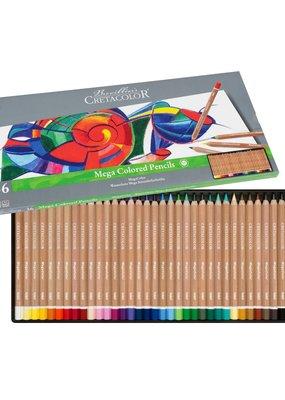 Cretacolor Megacolor Colored Pencil 24 Color Set
