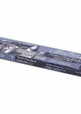 Cretacolor Nero Deep Black Pocket Set of 7