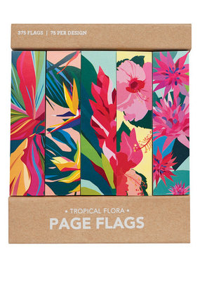 Girl of All Work Page Flags Tropical Floral