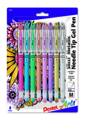 Pentel Pentel Slicci Metallic Gel Pens Set of 8