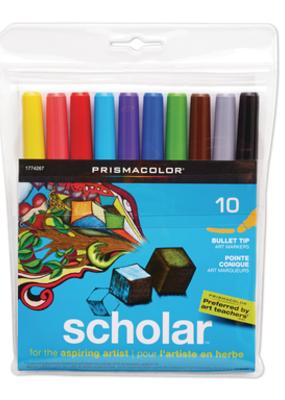 Prismacolor Prismacolor Scholar Markers Bullet Tip 10 Pack