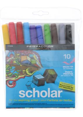 Prismacolor Prismacolor Scholar Markers Brush Tip 10 Pack