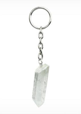 GeoCentral Quartz Crystal Keychain