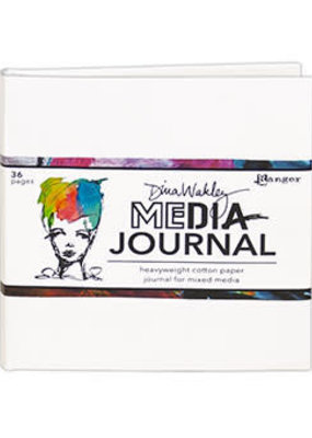 Dina Wakley Media Media Journal 6 x 6 White