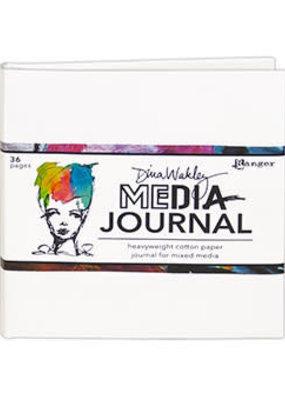 Dina Wakley Media Mixed Media Journal 6 x 6 White