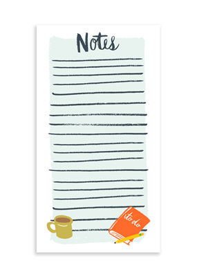 9th Letter Press Office Notepad