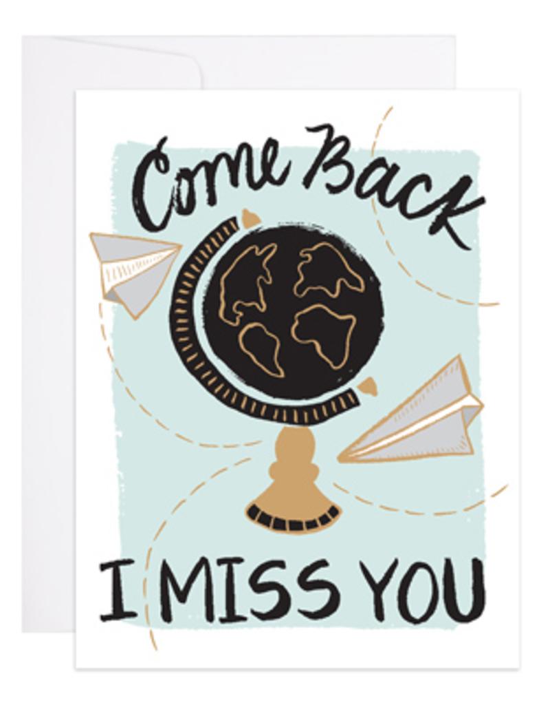 9th Letter Press Card Come Back