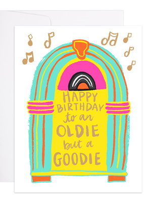 9th Letter Press Card Jukebox Birthday