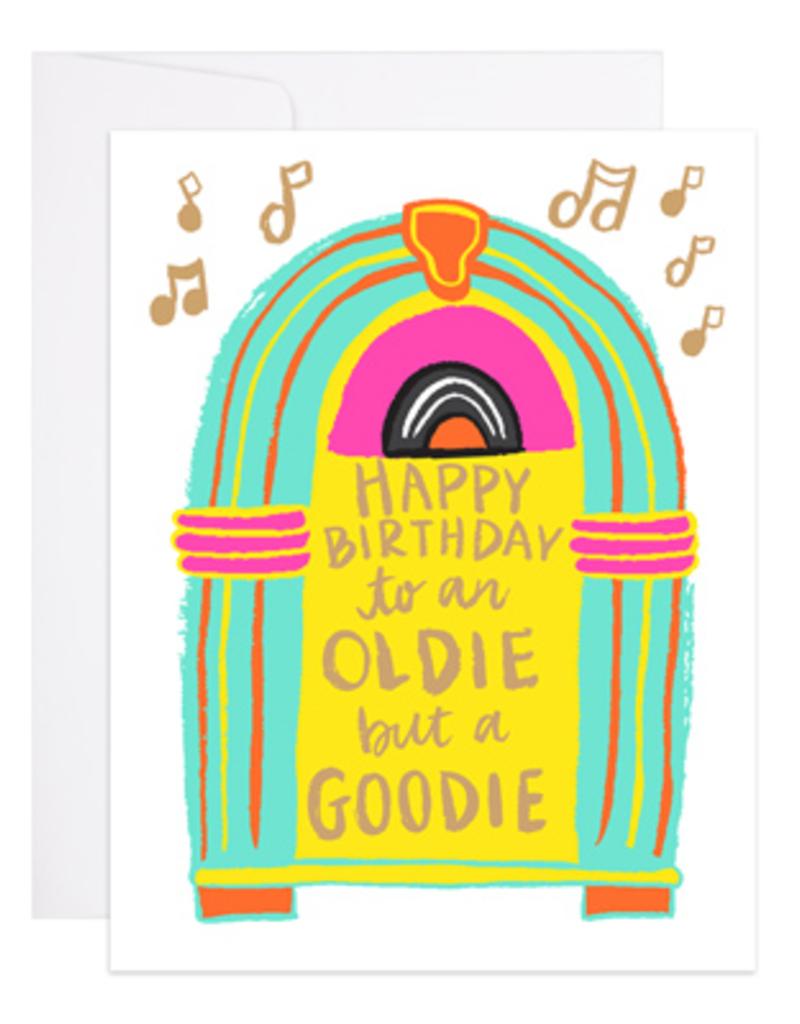 9th Letter Press Card Jukebox Birthday