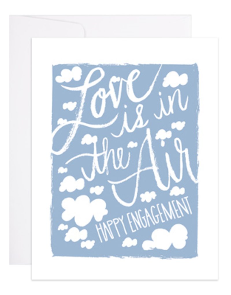 9th Letter Press Card Love is in the Air