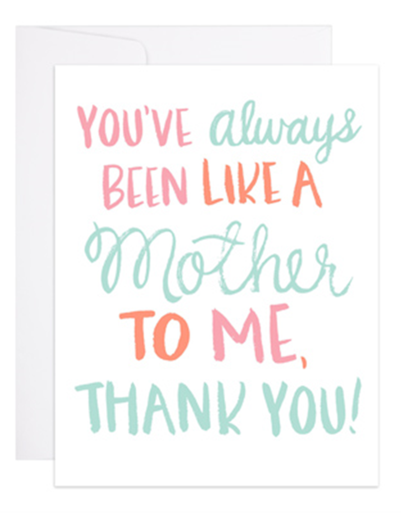 9th Letter Press Card Second Mother