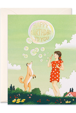 joo joo paper Card Bubbles Birthday
