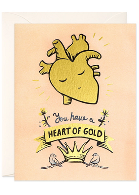 joo joo paper Card Heart of Gold