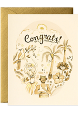 joo joo paper Card Tropical Congrats