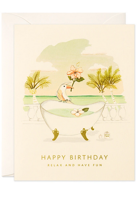 joo joo paper Card Toucan and Tub Birthday