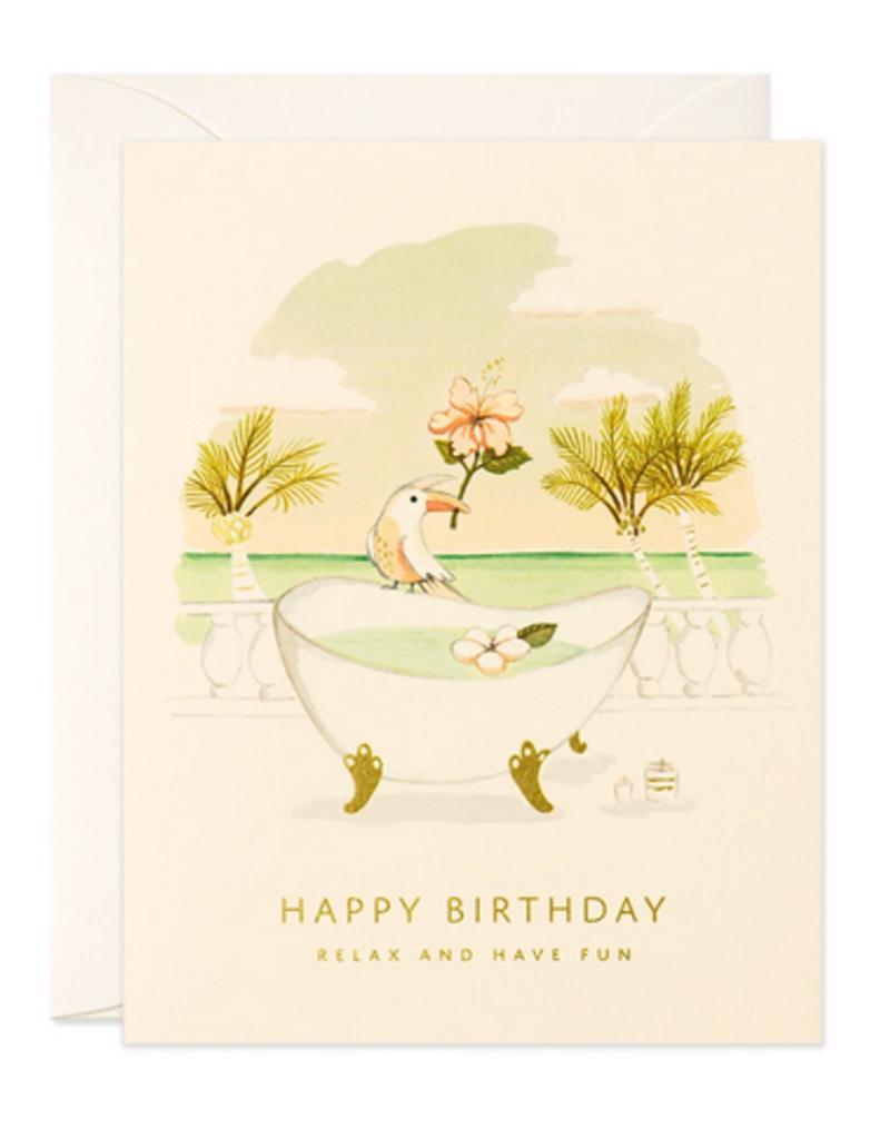 joo joo paper Card Toucan and Tub Birthday