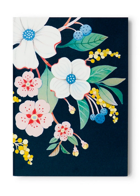 joo joo paper Pocket Notepad Black Floral