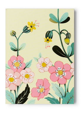 joo joo paper Pocket Notepad Yellow Floral