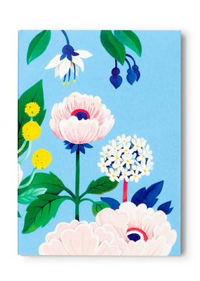 joo joo paper Pocket Notepad Blue Floral