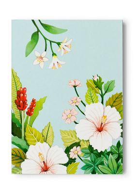 joo joo paper Pocket Notepad Light Blue Floral