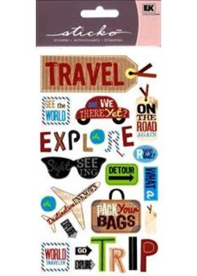 EK Sticker Happy Traveling