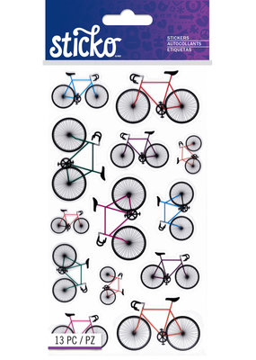 Sticko Stickers Colorful Bicycles