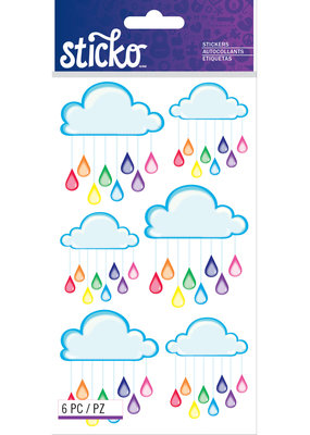 EK Sticker Rainbow Clouds
