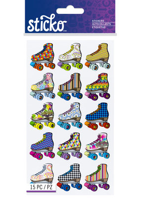 EK Sticker Bright Roller Skates