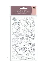 Sticko Sticker Playful Kittens