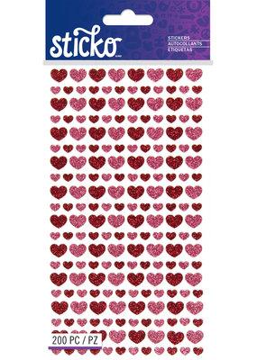 Sticko Stickers Glitter Hearts