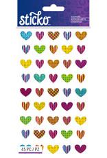 EK Sticker Repeats Colorful Heart