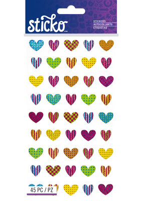 Sticko Stickers Repeats Colorful Heart