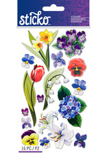 Sticko Stickers Floral Medley